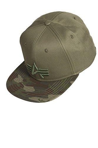 Alpha Industries Herren Caps / Snapback Cap Camo Logo camouflage Verstellbar