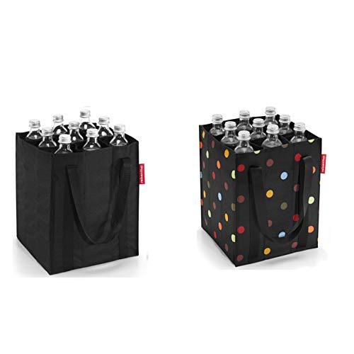 reisenthel 2er Set Flaschenträger/bottlebag (Black/dots) -