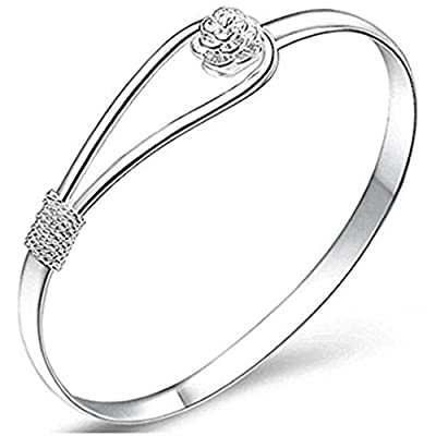 M.G.D 925 Silver Women Bangle Cuff Bangle Charm Bracelet : everything five pounds (or less!)