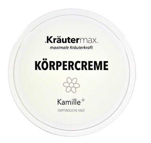 Kamille Körpercreme 100 ml•Kamillenkörpercreme für beanspruchte und empfindliche Haut•Körperlotion mit Kamillenblütenextrakt, Bisabolol, Bienenwachs•Produziert in AT+DE•Premiumqualität