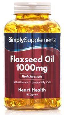 Aceite de Linaza 1000mg - 360 cápsulas - Hasta 1 año de suministro