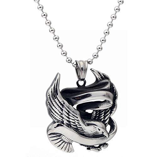 ZRDMN Frauen Halskette anhänger schmuck Retro Safe Messenger anhänger Flut männer Titanium Stahl schmuck Mode männer fliegen Taube Teaser Halskette -