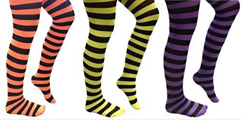 KarnevalsTeufel Ringelstrumpfhosen,, gestreift, Kinderstrumpfhosen, 70 DE...