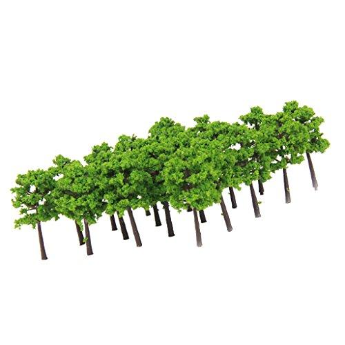 40pcs Árboles Modelos de Plástico de Escala 1: 250 para Paisaje de...