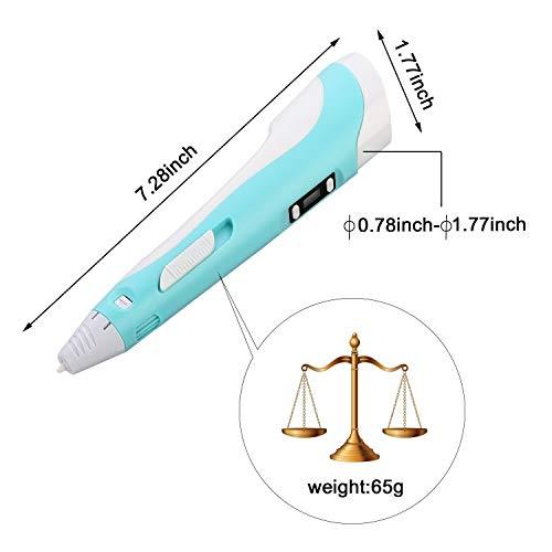 OBEST NIU 3D Drucker Stift,3D Pen 40-100℃ 3D Stift 3D Niedrige temperatur Stereoscopic Printing Pen Set mit LCD Bildschirm,5M 1.75mm PCL Filament,Intelligente Temperaturregelung USB Adapter für Kinder Drawing Freihand 3D Zeichnungen - 5
