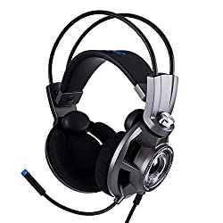 Gaming Headset - Lightweight Design - Flip To Mute Mic - Ear Pads - Built In Volume Controls - Works With PC, S 7.1 Surround Sound