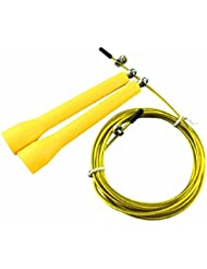 3 Meters Metal Bearing Skipping Rope Speed Cable Jump Rope Crossfit Mma Box Gym Sports Accessories Yellow