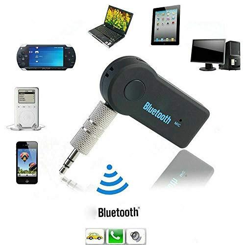 N4U Online® Kabelloser Bluetooth 3,5 mm Handy auf AUX Autoradio Musik-Receiver Adapter mit Mikrofon für Timmy M9
