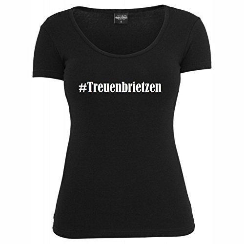 T-Shirt #Treuenbrietzen Hashtag Raute für Damen Herren und Kinder ... in den Farben Schwarz und Weiss Schwarz