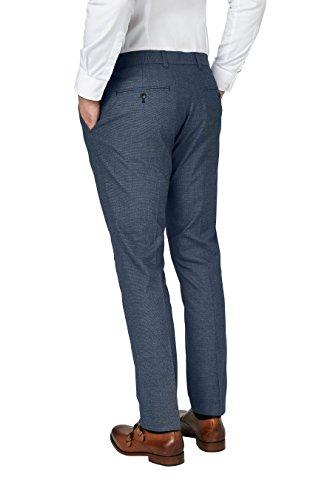 next Pantalon en coton texturé Standard Homme Bleu