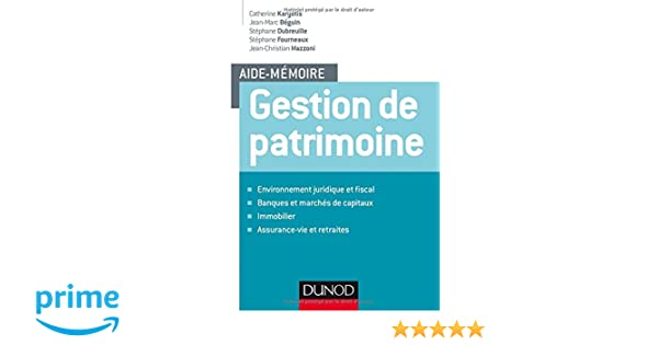 960565332ff Amazon.fr - Aide-mémoire - Gestion de patrimoine - Catherine Karyotis