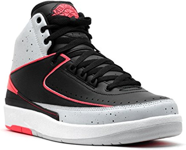 Nike Herren Air Jordan 2 Retro Infrared 23 Schuhe Aus Schwarzem Leder 385475 023