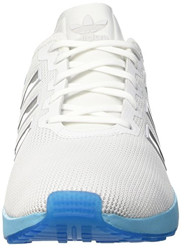 adidas Zx Flux Adv, Chaussures de Running Entrainement Homme Blanc (Ftwrr White/Ftwrr White/Blue Glow)