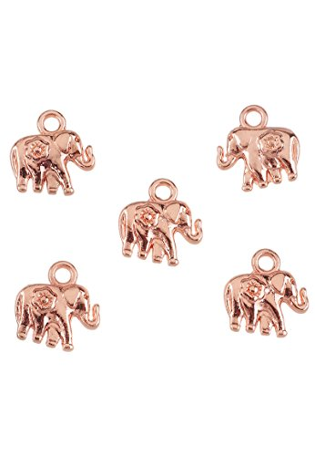 Angel Malone ® 1 x Designer Quality Rose Gold 3D ELEPHANT Pendant Charms Jewellery Making Findings