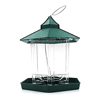 Outdoor Hanging Bird Feeder,Aolvo Large Container Window Wild Bird Feeder Waterproof Perfect for Garden Decoration and Bird Watching for Bird Lover from Aolvo