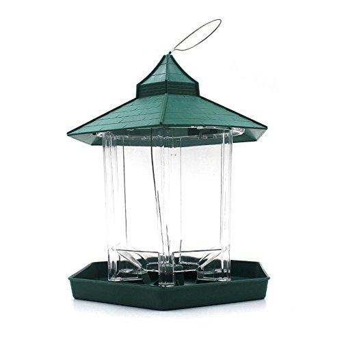 Im Freien Hängende Vogel-Zufuhr, Aolvo Großes Behälter-Fenster-wilder Vogel-Zufuhr-wasserdichtes Perfektes für Garten-Dekoration und Vogelbeobachtung für Vogel-Liebhaber