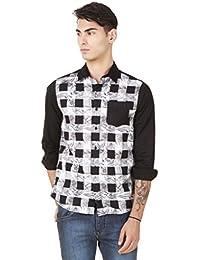 4Stripes Men's Causal Print Shirt