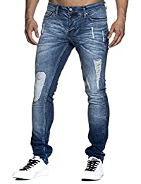 Tazzio slim fit Pantalon Jean destroyed Look stretch Denim 1002A