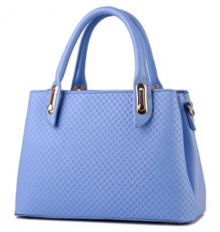 HQYSS Borse donna PU cuoio stereotipi croce corpo tinta unita donna tracolla Messenger Handbag , treasure blue days blue