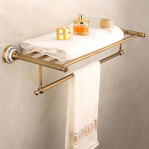 ZTMN Retro Handtuchhalter Handtuchhalter Überzogen Mit Keramik Poliert, Messing Handtuchhalter Wandmontage Für Badezimmer, Messing -