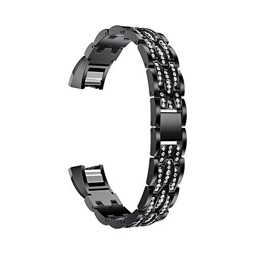 Preisvergleich Produktbild Fitbit Alta / Fitbit Alta HR Armband, iHee 2017 NUE Edelstahl Kristall Uhrenarmband Armband für Fitbit Alta HR / Fitbit Alta (C)