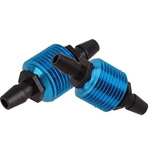 Preisvergleich Produktbild WEONE Blau Fuel Tank Luftkühler für 1/10 R / C Modellautomotoren Teile Fittings HSP 80120 (2er Pack)