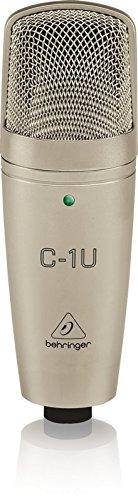 Behringer C-1U - Micrófono para estudio (USB, 136 dB), color dorado