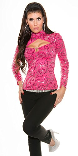 Sexy KouCla PaillettenpartyShirt mit XL-Dekolletté Koucla by In-Stylefashion SKU 0000ISF894301 Pink