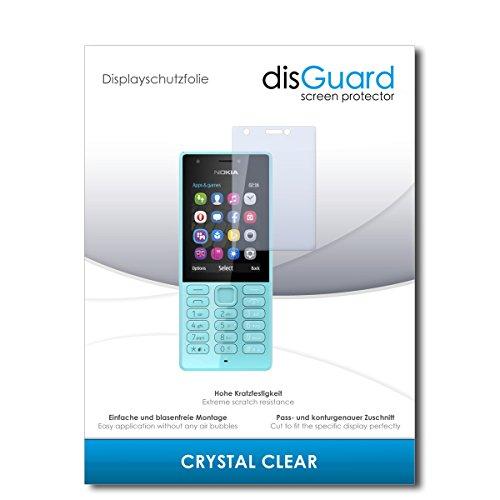 disGuard® Pellicola Protettiva [Crystal Clear] Compatibile con Microsoft Nokia 216 Dual Sim [2 Pezzi] Cristallino, Transparente, Invisibile, Ultra Resistente, Effetto Anti-Impronte - Proteggi Schermo