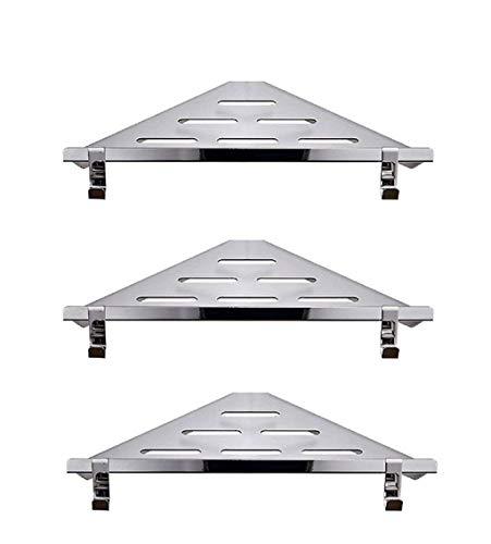 ZHJZWJ Badregal, Handtuchhalter 304 Edelstahl Badezimmer Regal Wandbehang Dreieck Korb Single Layer Badezimmer Eckzarge (Size : L)