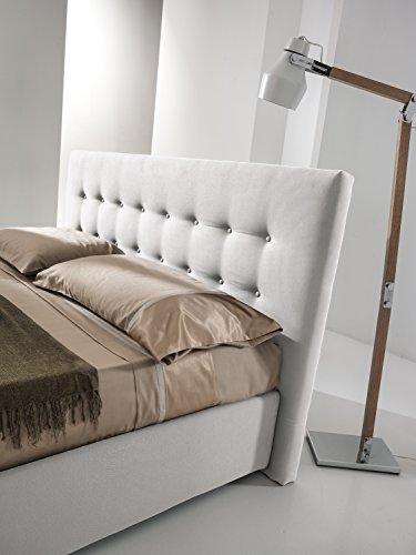 Dormire meglio letto monika matrimoniale imbottito con contenitore, sfoderabile (160_x_190_cm)