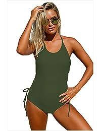Wuyulunbi@ Un traje de baño con un traje de baño pura triangulación bañador,verde militar,M