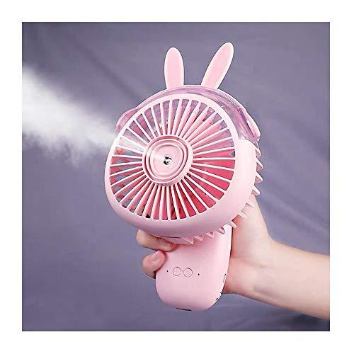 Fan JUN Spray Kleiner Lüfter USB-Aufladung 2000 MAh Handheld Luftbefeuchter Kleiner Lüfter für Home Office Reise Student Schlafsaal (Color : Pink) (Stecker Für Baby-schaukel)