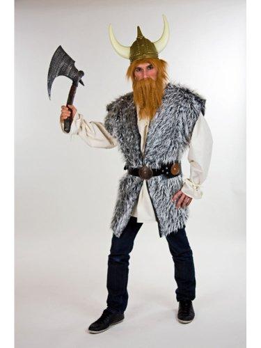 Kostüm Tin Erwachsene Für Mann - Kostüm für Erwachsene Wikinger Plüschweste Gr.XL