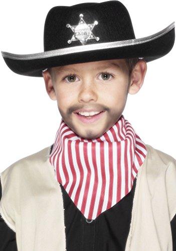 Kostüm Cowboy Sheriff Hut - Smiffys Sheriff-Hut mit Abzeichen, One Size