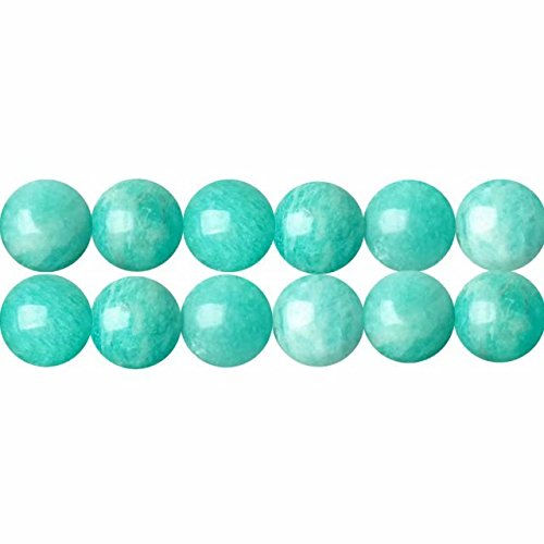 Skybeads perle naturali in amazzonite blu verde tonde 6mm aaa pietre e cristalli perline per collane braccialetti gioielli circa 38cm un filo 60 perline