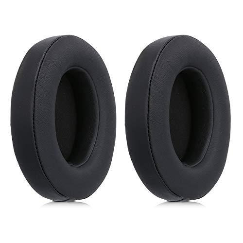 kwmobile 2X Almohadillas para Auriculares Beats Studio 2/3 Wireless - Almohadillas de Recambio de Cuero sintético para Beats Headphones - en Negro