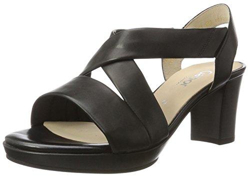 Gabor Shoes Damen Comfort Offene Sandalen, Schwarz (schwarz (A.tp) 57),  5 UK/38 EU