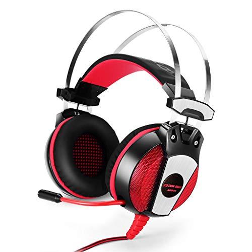 SOYY GS500 3,5 mm Stereo Gaming Headset für PS4, PC Computer Handys, Noise Cancelling über Ohr Kopfhörer mit Mikrofon, USB LED Licht, Bass Surround Logitech Portable Headset