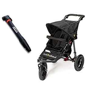 Out n About Nipper Single V4 with Tyre Pump - Raven Black   11