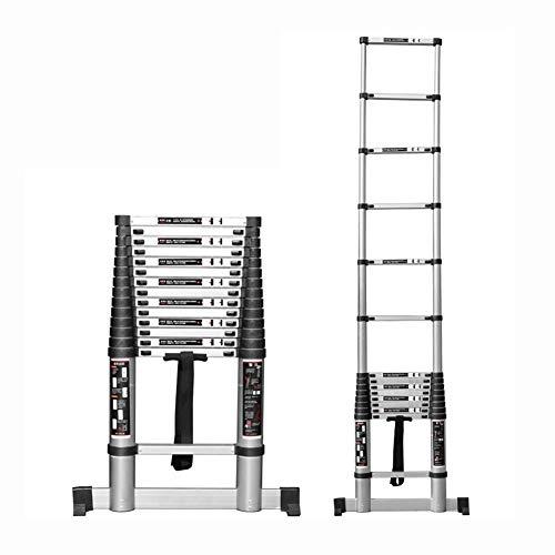 Teleskopleiter EN131 Teleskopleiter Mit Stabilisator - Aluminium-Verlängerungsleitern Für Den Heimgebrauch Dach-RV-Outdoor-Aktivitäten Hochleistungsleitern, Kapazität 330 lb (größe : 10ft/3.2M)