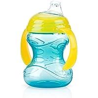 Nuby 10069 Click-it non-Spill Grip N ′ SIP con 2 facile Grip prevede, 4 mesi 8 once (260 ml) preparare Sippy Bicchiere con beccuccio in silicone morbido, passo 1 I colori possono variare