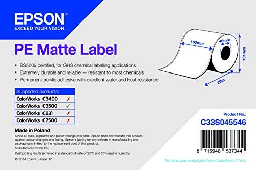 Rot.Carta Cont. Adesiva Pe Matte Label 1