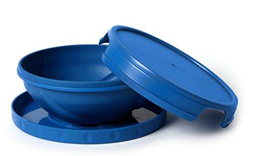 flatterware-campeggio-pieghevole-ciotola-piatto-caldo-freddo-riutilizzabile-blu