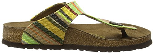 Birkenstock - Gizeh Textil/leder, Sandali infradito Donna Multicolore (Mehrfarbig (Bohemian Stripes Yellow))