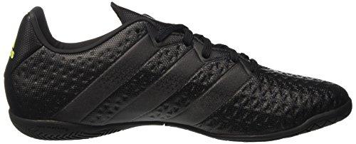 adidas Ace 16.4 In, Chaussures de Football Entrainement Homme Noir (Core Black/Core Black/Solar Yellow)