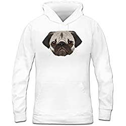Sudadera con capucha de mujer Pug Realistic by Shirtcity