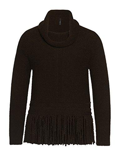 Marc Cain Collections Fc 41.43 M10, Sweat-Shirt Femme Beige - Beige (black coffee 692)