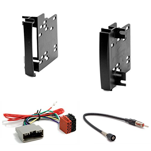 CARAV 11-189-34-14 Radioblende Car 2-DIN in Dash Installation kit Set + ISO and Antenna Adapter Cable