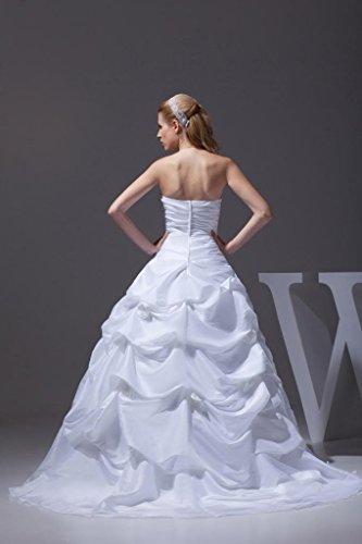 GEORGE BRIDE Weinlese Formal Traegerlose Ballkleid Hochzeitskleid ...